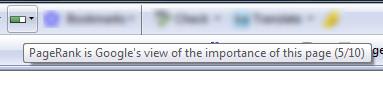 Google Toolbar PR